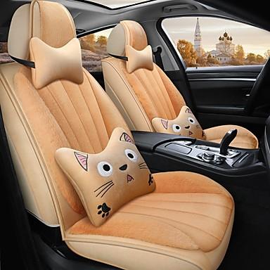 levne Doplňky do interiéru-karikatura auto polštář zimní polštář teplý potah sedadel v autě kompatibilní s airbagem 5 míst karikatura verze se 2 opěrkami hlavy a 2 bederní