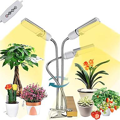 preiswerte LED-Innenbeleuchtung-1pc 63 W 6800 lm 132 LED-Perlen Vollspektrum Abblendbar Wachsende Leuchte 85-265 V 5 V Gemüse Gewächshaus
