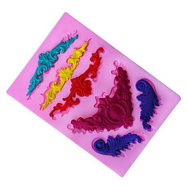 preiswerte Utensilien fürs Backen & Feingebäck-1 stück antike phoenix muster drehen zucker kuchen schokolade dekorative silikonform familie vertrauten artikel des täglichen gebrauchs