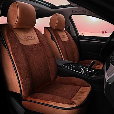 levne Doplňky do interiéru-polštář v autě zimní polštář z plyšového polštáře všude kolem teplého potahu autosedačky krásně 5 sedadel kompatibilních s airbagy