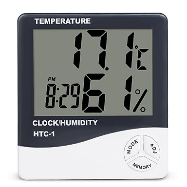 preiswerte Thermometer-innenraum lcd elektronische temperatur luftfeuchtigkeit meter digitales thermometer hygrometer wetterstation wecker htc-1