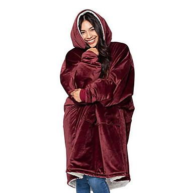 Cobertores Multifuncionais, Côr Sólida Poliéster Confortável cobertores