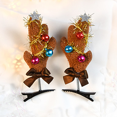 levne Dámské šperky-dámský dámský roztomilý textil vánoční dárek - jednobarevný
