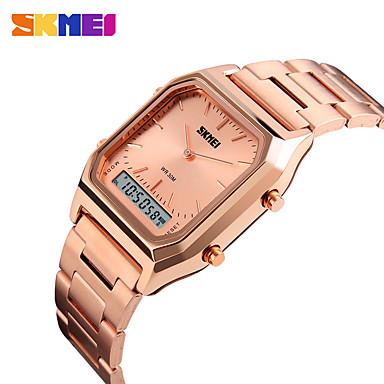 levne Pánské-SKMEI Inteligentní hodinky Digitální Moderní styl Sportovní 30 m Voděodolné Hodinky na běžné nošení Cool Analog - Digitál Na běžné nošení Módní - Růžové zlato Černá / Stříbrná Zlatá