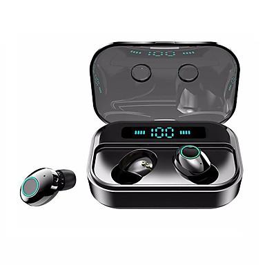 hesapli Kulaklıklar ve Kulaklıklar-Litbest m7 tws gerçek kablosuz kulaklıklar ipx7 su geçirmez spor spor kulaklık bluetooth 5.0 stereo çift sürücüler dokunmatik kontrol gerçek 2200 mah mobil güç akıllı telefonlar için led pil ekran