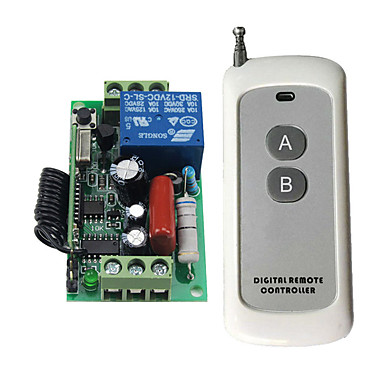 cheap Smart Switch-High Quality AC 220V 10A 1CH RF 433MHz Wireless Remote Control Switch Receiver  Transmitter Kit