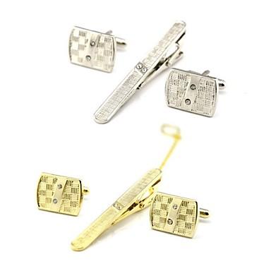 levne Pánské šperky-Kol Düğmeleri Spony na kravaty Módní Brož Šperky Zlatá Stříbrná Pro Denní Práce