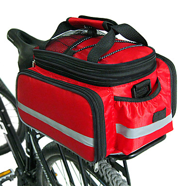 Luggage Rack Bag Shopping Bag 22 L Shoppertasche Bicycle Bag Red