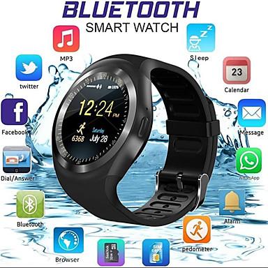 levne Pánské-Inteligentní hodinky Digitální Moderní styl Sportovní PU kůže 30 m Voděodolné Bluetooth Smart Digitální Na běžné nošení Outdoor - Černá Bílá Modrá