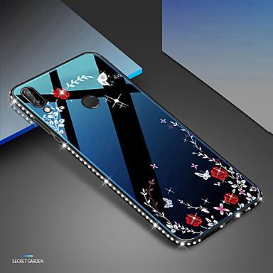 Capinha Para Huawei Huawei Nova 4 / Huawei P20 / Huawei P20 lite Antichoque / Com Strass / Estampada Capa traseira Coração / Mulher Sensual TPU