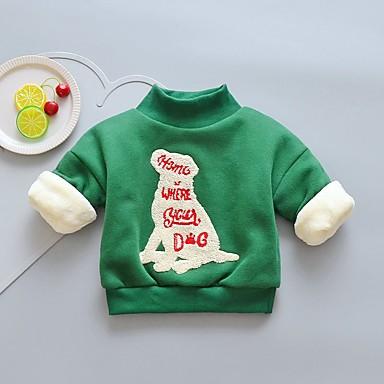 preiswerte Kapuzenpullover & Sweatshirts für Babys-Baby Mädchen Grundlegend Rot Druck Langarm Kapuzenpullover Armeegrün