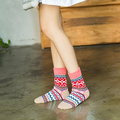 preiswerte Modische Unterwäsche-Damen Socken - Mehrfarbig Warm Purpur Rosa Einheitsgröße