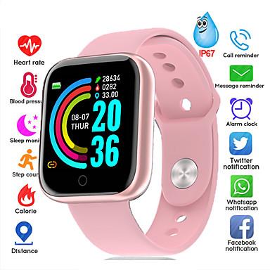 levne Pánské-Inteligentní hodinky Digitální Moderní styl Sportovní Silikon 30 m Voděodolné Monitor pulsu Bluetooth Digitální Na běžné nošení Outdoor - Černá Růžová stříbrná / černá