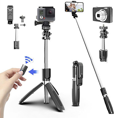 cheap Camera & Photo-Tripod for phone Selfie artifact Bluetooth selfie stick Mobile phone telescopic rod self-timer Mobile phone live tripod bracket
