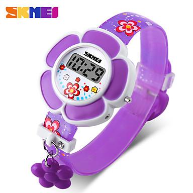 levne Pánské-SKMEI Inteligentní hodinky Digitální Moderní styl Sportovní Silikon 30 m Voděodolné Hodinky na běžné nošení Cool Digitální Na běžné nošení Módní - Fialová Červená