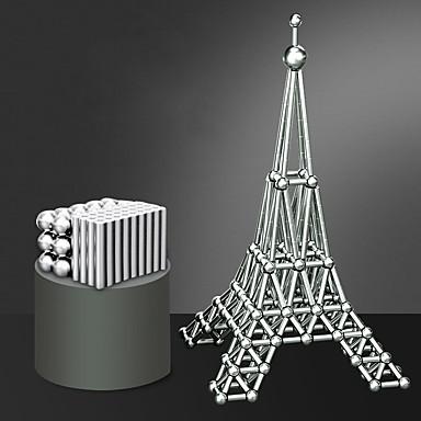 povoljno Igračke i igre-63 pcs 8mm Magnetne igračke Magnetske kuglice Magnetski štapići Kocke za slaganje Snažni magneti Magnetska igračka Puzzle Cube Odrasli Dječaci Djevojčice Igračke za kućne ljubimce Poklon
