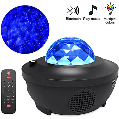 cheap Décor & Night Lights-Star Projector Lights Bluetooth Voice Control Whirlwind Laser Projector Stage Lamps Disco Club Bar KTV Family Party Light Show