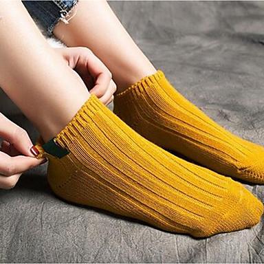 preiswerte Modische Unterwäsche-Damen Socken - Modisch Medium Gelb Grün Einheitsgröße