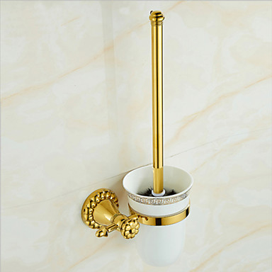 Toalettbørsteholder Kreativ Moderne Messing 1pc Vægmonteret