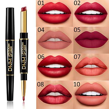 halpa Huulet-brändi dnm kaksinkertainen pää huulipuna huulirakenne monitoiminen helmi matta huulipuna kynä vedenpitävä pitkäkestoinen huuli meikki