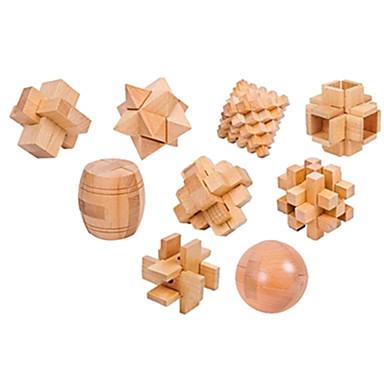 preiswerte Holzpuzzle-Bausteine Holzpuzzle Knobelspiele Kong Ming Geduldspiel Spielzeuge Intelligenztest Holz Unisex Stücke