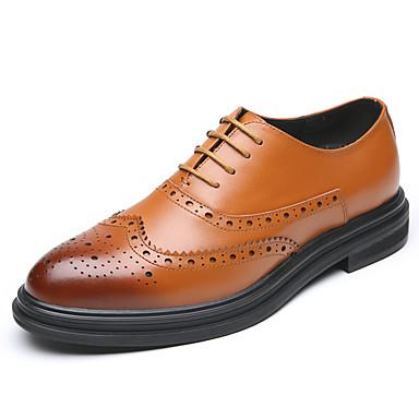 Homens Sapatos formais Couro Ecológico Primavera Verão / Outono & inverno Casual / Formais Oxfords Preto / Marron / Festas & Noite