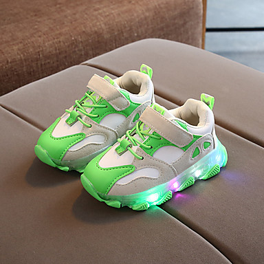 cheap Featured Deals-Boys' Sneakers LED / Comfort / LED Shoes Suede / PU LED Shoes Little Kids(4-7ys) Buckle / Split Joint / LED Black / Orange / Green Spring / Fall / Party & Evening / Rubber