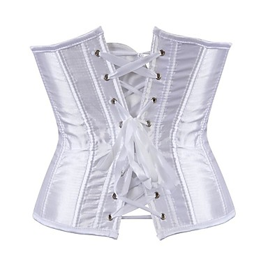 Plus Size POLY Corset Sexy Solid Colored Party Evening Bandage Underbust Corset