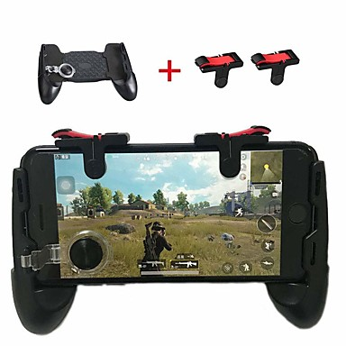 preiswerte Smartphone Spiele Zubehör-Mobiler Gamecontroller Sensitive Shoot Goal Keys L1R1-Gaming-Trigger für Pubg / Knives Out / Rules Survivalsupports 4.7-6.4 Inche
