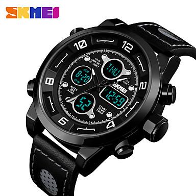 levne Pánské-SKMEI Inteligentní hodinky Digitální Moderní styl Sportovní Silikon 30 m Voděodolné Hodinky na běžné nošení Cool Analog - Digitál Na běžné nošení Módní - Černá Černá / Modrá Černá / červená