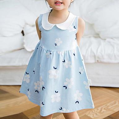 hesapli Kids CollectionUnder $8.99-Toddler Genç Kız Zıt Renkli Elbise Doğal Pembe