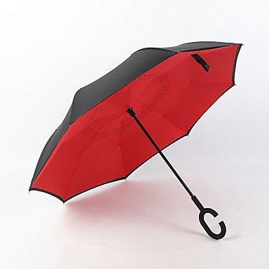 رخيصةأون المظلات-قماش الجميع مشمس وممطر مظلة مستقيمة