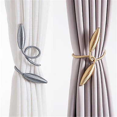 cheap Curtain Accessories-DIY twist and twist optional buckle tie new creative curtain tie tie rope 2 pack