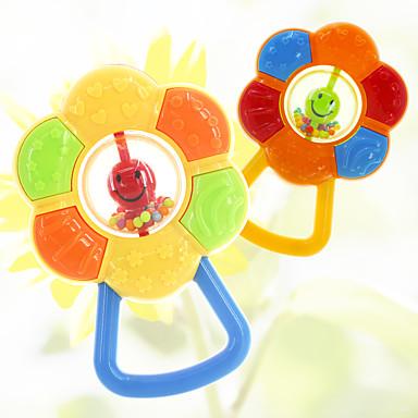 preiswerte Babyspielzeug-Qualität ABS bunten Cartoon-Modellierung Babykindsonnenblume Zähne beißen Rasseln Spielzeug Baby-Spielzeug Lernspielzeug