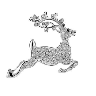 levne Dámské šperky-dámský módní drahokamový slitinový vánoční festival - jednobarevný