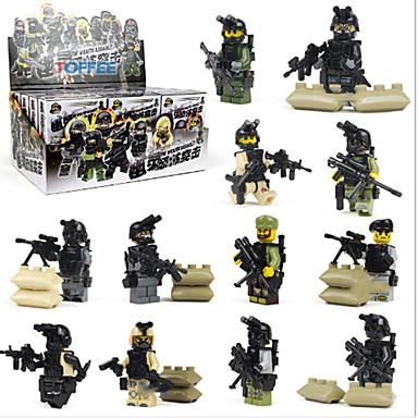 Byggklossar Militära block Byggsats Leksaker Soldier kompatibel Legoing Kul Klassisk Pojkar Flickor Leksaker Present / Utbildningsleksak
