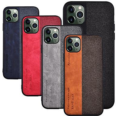 Capinha Para Apple iPhone 11 / iPhone 11 Pro / iPhone 11 Pro Max Áspero Capa traseira Palavra / Frase Têxtil / TPU
