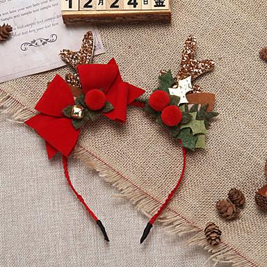 levne Dámské šperky-dámská módní tkanina vánoční festival - jednobarevné