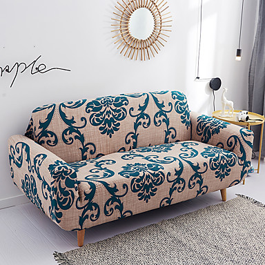 cheap Slipcovers-Printeded Stretch Sofa Slipcover - 1 Piece Elastic Polyester Spandex Couch Covers- Universal Fitted Sofa Slipcover Furniture Protector