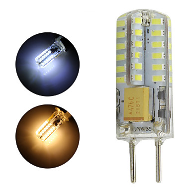 gy6.35 lâmpada led 1 w 12 v ac / dc led lampada 48 leds 3014 led lâmpada pingente lustre de 360 graus luz whtie branco quente 1 pc / lote