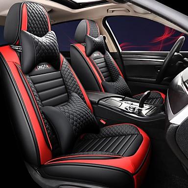 baratos Capas para Assento Automotivo-almofada em toda a cobertura de assento capa para assento de carro em toda a temporada capa para assento de carro de 5 assentos A versão de luxo compatível com airbag inclui 2 encostos de cabeça e 2