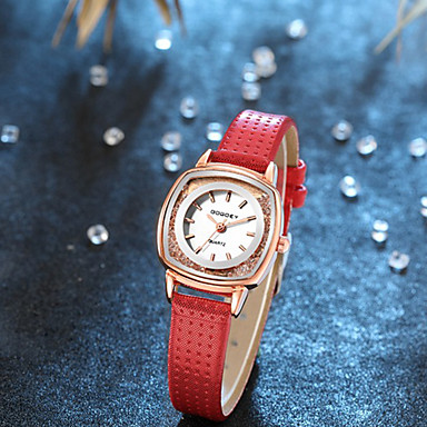 ieftine Ceasuri pătate și dreptunghiulare-Pentru femei Quartz Lux O noua sosire Negru Alb Roșu PU piele Chineză Quartz Alb Negru Mov Cronograf Ceas Casual Adorabil 1 piesă Analog Un an Durată de Viaţă Baterie / imitație de diamant