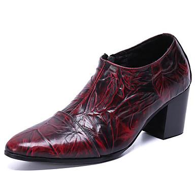 Homens Sapatos formais Pele Napa Primavera Verão / Outono & inverno Vintage / Formais Mocassins e Slip-Ons Não escorregar Vinho / Festas & Noite