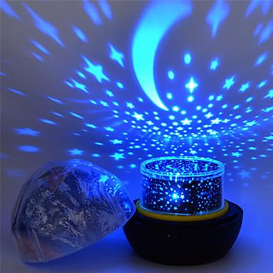 billige Smartlamper-stjerne nattlys for barn univers kosmos stjernehimmel lys ledet projektor roterende lampe nattlys månehav verden dekorativ