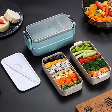 Japonês caixa de almoço de microondas caixa de bento à prova de vazamento para estudantes crianças escola recipiente de alimento