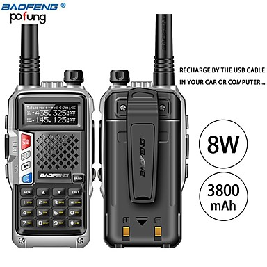 cheap Walkie Talkies-BAOFENG BF-UVB3 PLUS Anolog Emergency Alarm / PC Software Programmable / Voice Prompt 5KM-10KM 5KM-10KM 3800 mAh 8 W Walkie Talkie Two Way Radio