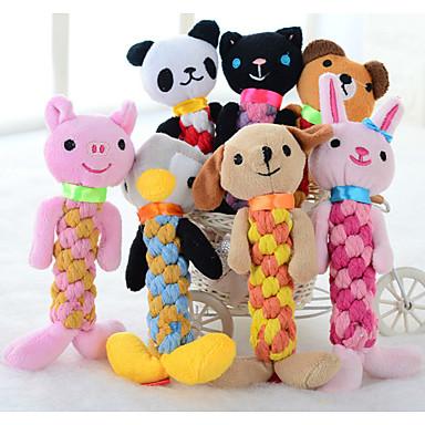 preiswerte Katzenspielzeug-Kau-Spielzeug Katze Hund Haustiere Spielzeuge Cartoon Design quietschen Plüsch Geschenk