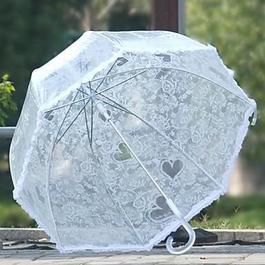 رخيصةأون المظلات-قماش / بلاستيك الجميع مشمس وممطر مظلة مستقيمة