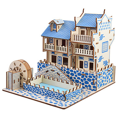 cheap Wooden Puzzles-3D Puzzle Jigsaw Puzzle Model Building Kit Famous buildings Chinese Architecture DIY Simulation Wooden Classic Chinese Style Kid's Adults' Unisex Boys' Girls' Toy Gift / Wooden Model