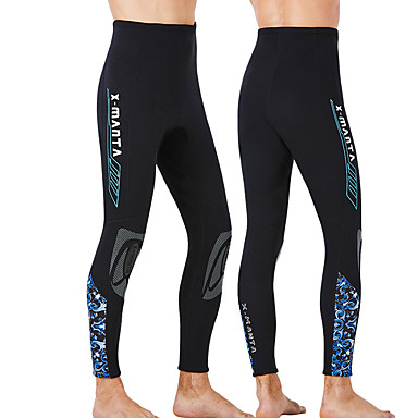 cheap Exercise, Fitness & Yoga-Dive&Sail Men's Wetsuit Pants 3mm Nylon CR Neoprene Diving Suit Bottoms Thermal / Warm Anatomic Design High Elasticity Long Sleeve Diving Water Sports Patchwork Autumn / Fall Spring Winter